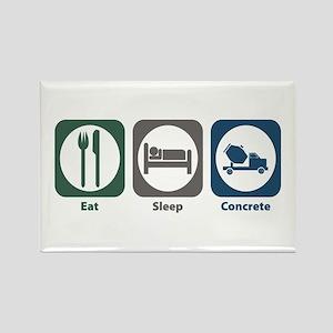 Eat Sleep Concrete Rectangle Magnet