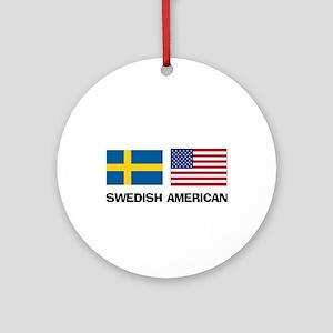 Swedish American Ornament (Round)