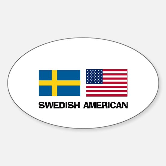Swedish American Oval Decal