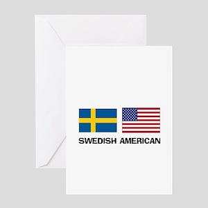 Swedish American Greeting Card