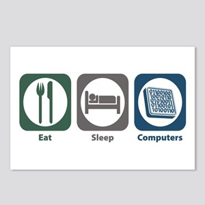 Eat Sleep Computers Postcards (Package of 8)