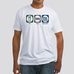 Eat Sleep Computers Fitted T-Shirt