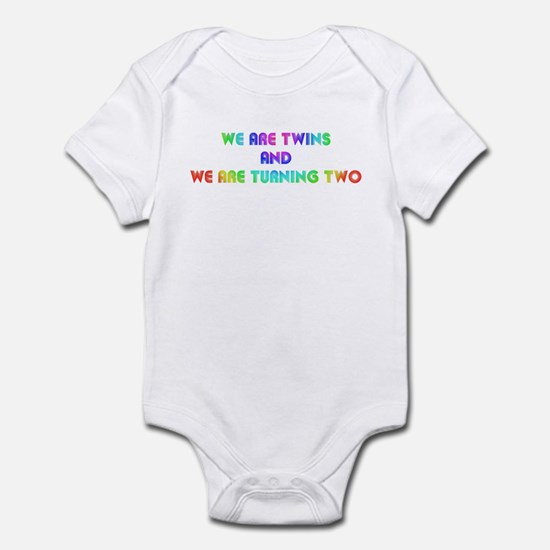 Twins turning two Infant Bodysuit