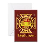 Knights Templar Greeting Cards (Pk of 20)