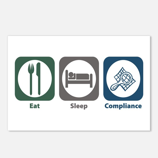 Eat Sleep Compliance Postcards (Package of 8)