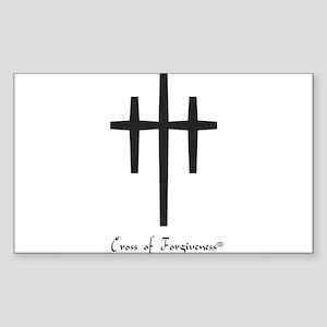 Cross of Forgiveness Rectangle Sticker