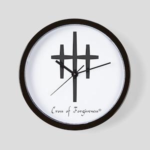 Cross of Forgiveness Wall Clock