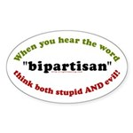 Bipartisan Oval Sticker (10 pk)