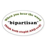 Bipartisan Oval Sticker (50 pk)