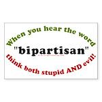 Bipartisan Rectangle Sticker