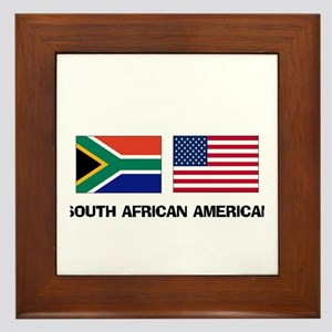 South African American Framed Tile