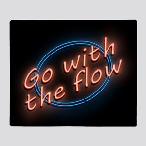 Go with the flow. Throw Blanket