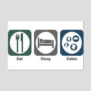 Eat Sleep Coins Mini Poster Print