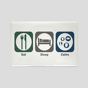 Eat Sleep Coins Rectangle Magnet