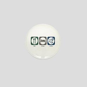 Eat Sleep Coins Mini Button