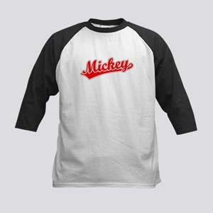 Retro Mickey (Red) Kids Baseball Jersey