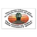 Liberal hell on earth FDR Rectangle Sticker 50 pk