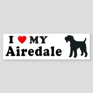 AIREDALE Bumper Sticker