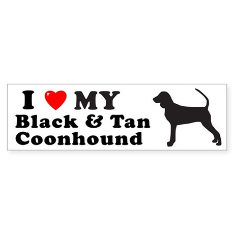 BLACK TAN COONHOUND Bumper Sticker