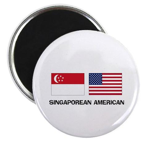 "Singaporean American 2.25"" Magnet (10 pack)"