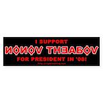Nonov Theabov for President Bumper Sticker (50 pk)
