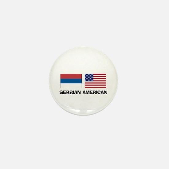 Serbian American Mini Button