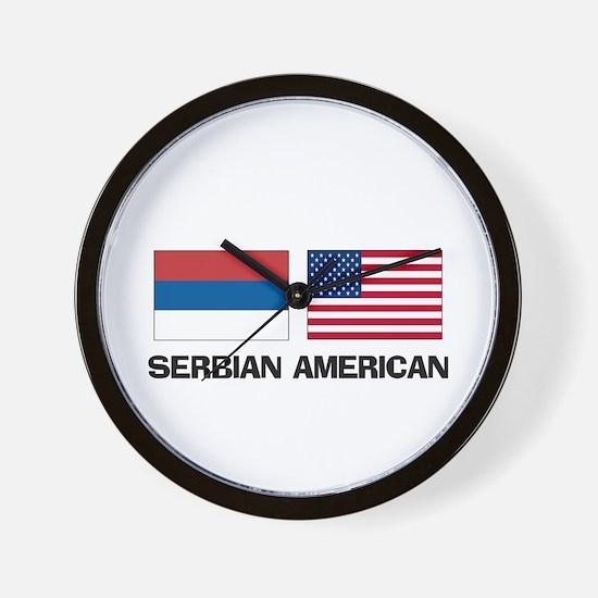 Serbian American Wall Clock