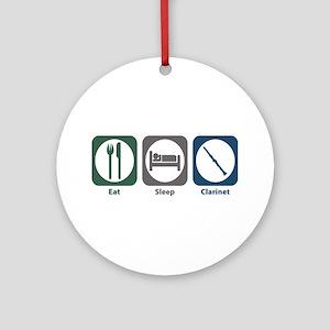 Eat Sleep Clarinet Ornament (Round)