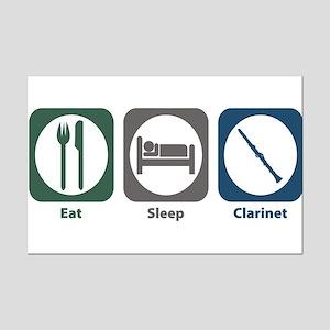 Eat Sleep Clarinet Mini Poster Print