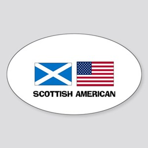 Scottish American Oval Sticker