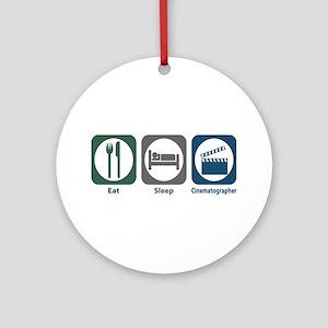 Eat Sleep Cinematographer Ornament (Round)