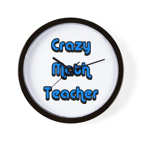 Crazy Math Teacher Wall Clock