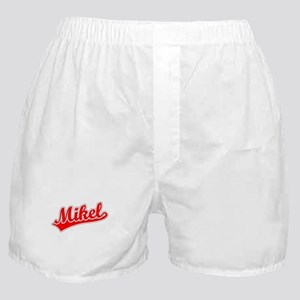 Retro Mikel (Red) Boxer Shorts