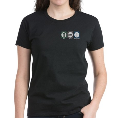 Eat Sleep Chiropractic Women's Dark T-Shirt