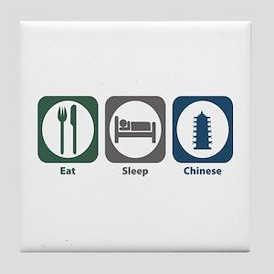 Eat Sleep Chinese Tile Coaster
