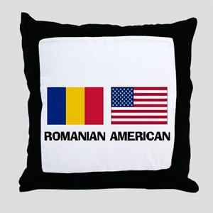 Romanian American Throw Pillow