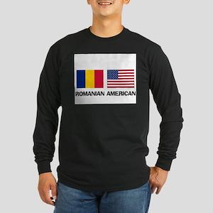 Romanian American Long Sleeve Dark T-Shirt