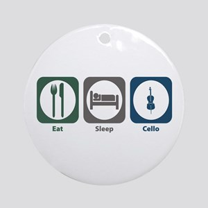 Eat Sleep Cello Ornament (Round)