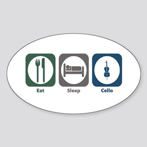 Eat Sleep Cello Oval Sticker