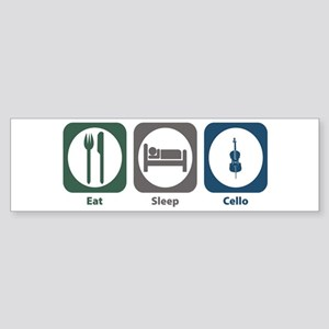 Eat Sleep Cello Bumper Sticker