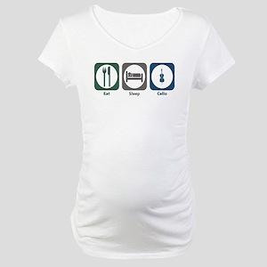 Eat Sleep Cello Maternity T-Shirt