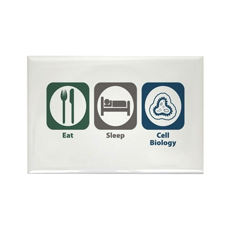 Eat Sleep Cell Biology Rectangle Magnet