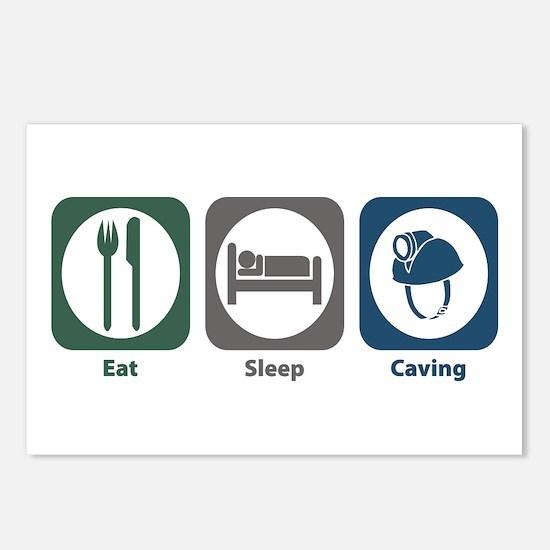 Eat Sleep Caving Postcards (Package of 8)