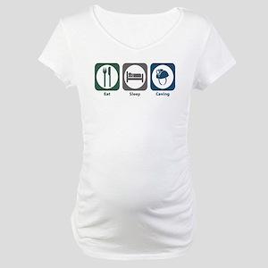 Eat Sleep Caving Maternity T-Shirt