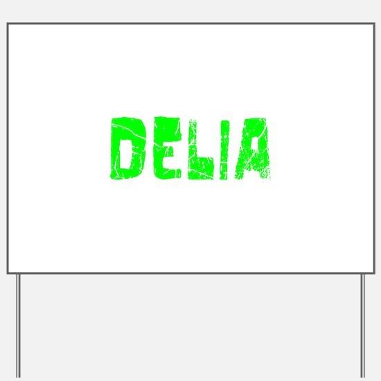 Delia Faded (Green) Yard Sign