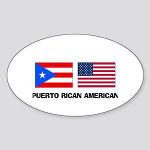 Puerto Rican American Oval Sticker