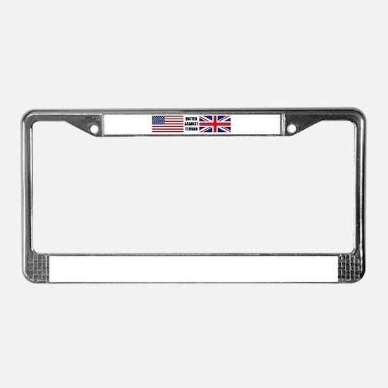 Cool War on terror License Plate Frame