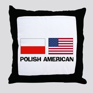 Polish American Throw Pillow