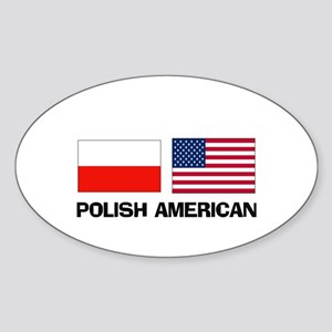 Polish American Oval Sticker