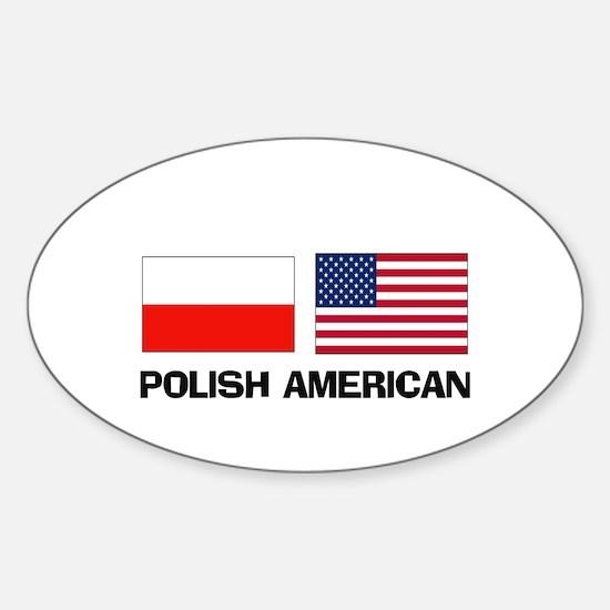 Polish American Oval Decal